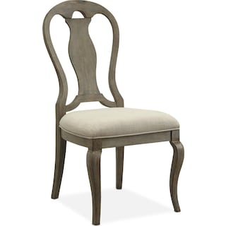 Lancaster Queen Anne Chair - Parchment