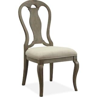 Lancaster Queen Anne Chair - Parchment