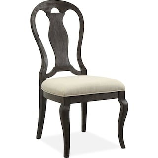 Lancaster Queen Anne Chair - Truffle