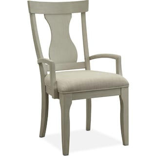 Lancaster Splat-Back Arm Chair - Water White