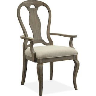Lancaster Queen Anne Arm Chair - Parchment