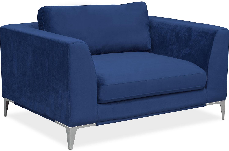 Aaron Cuddler Chair - Indigo