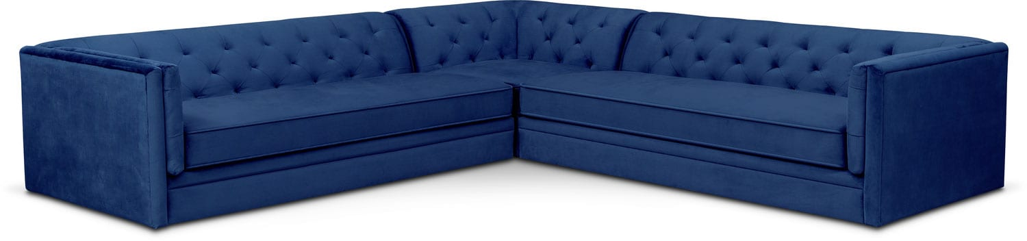 Living Room Furniture - Gabe 3-Piece Sectional - Indigo  sc 1 st  Value City Furniture : city furniture sectionals - Sectionals, Sofas & Couches