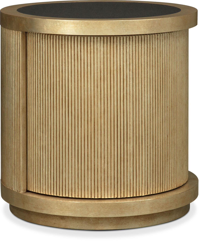 Rotunda End Table - Gold