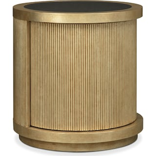 Rotunda End Table - Gold