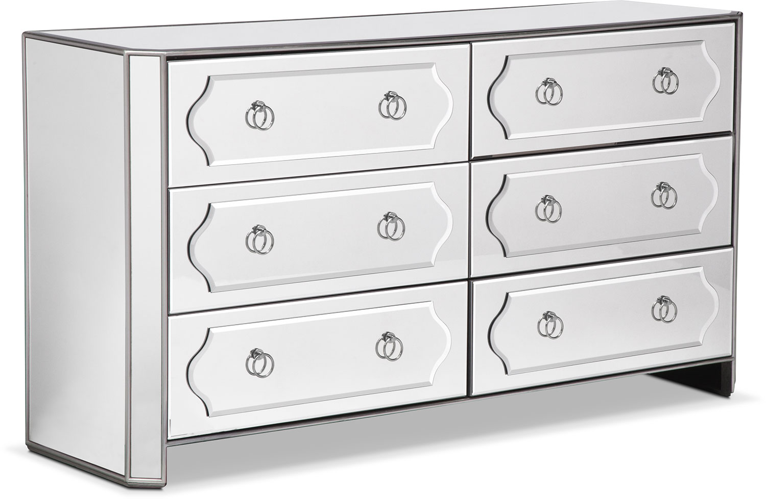 Harlow Dresser Mirrored Value City Furniture And Mattresses
