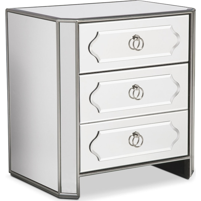 Accent and Occasional Furniture - Harlow Bedside Chest - Mirrored