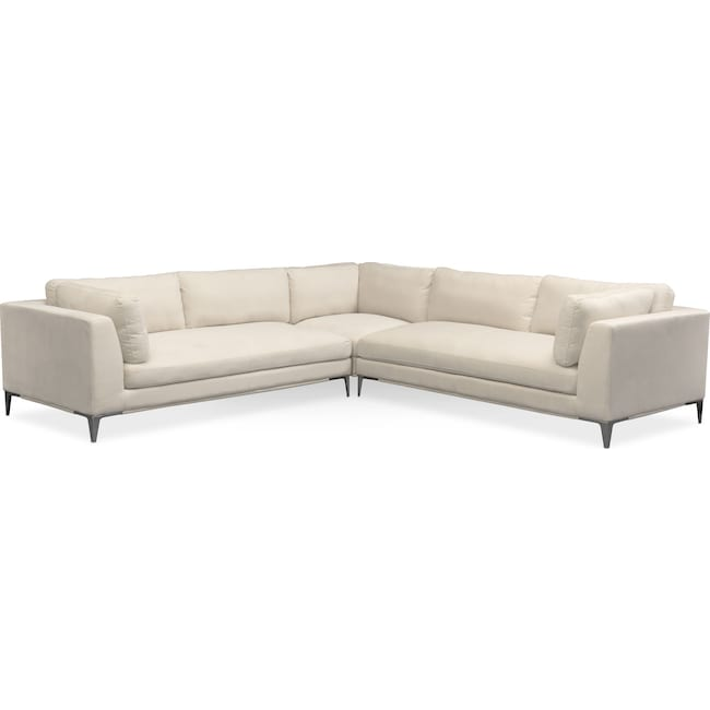 Aaron 3-Piece Sectional - Ivory