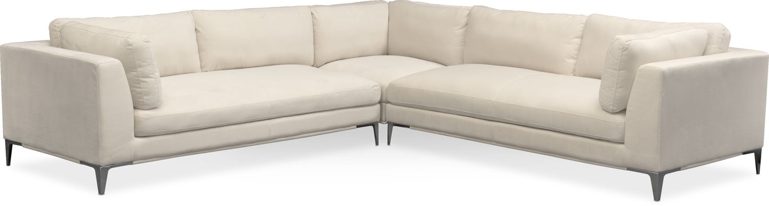 aaron 3piece sectional ivory - Sofa Sectional