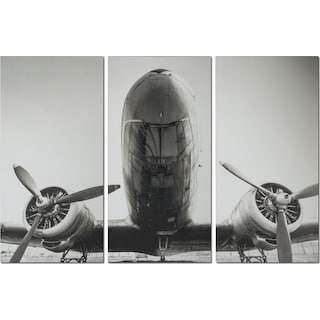 Plane 3-Piece Canvas Print