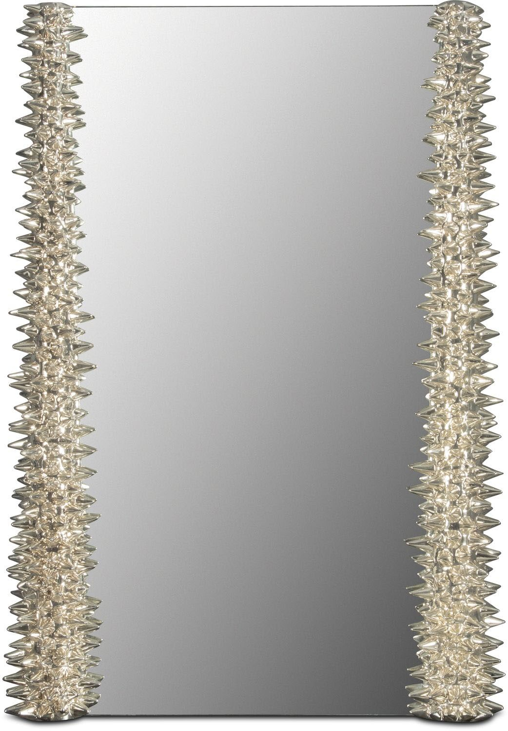 chrome spike mirror