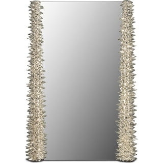 Chrome Spike Mirror