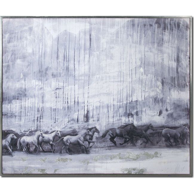 Accent and Occasional Furniture - La Cavalerie Framed Painting