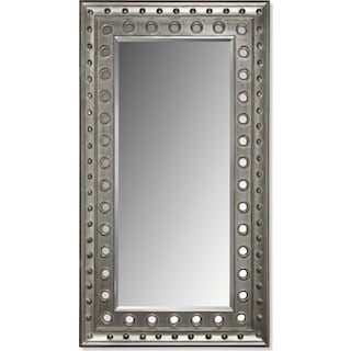 Antique Floor Mirror - Rubbed Black