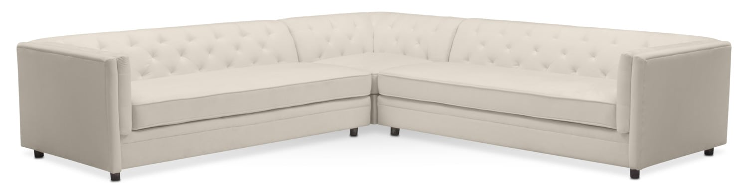 gabe 3piece sectional ivory - Sofa Sectional