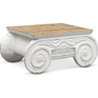 Corinth Accent Table Distressed White