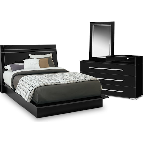 the dimora panel collection - black | value city furniture