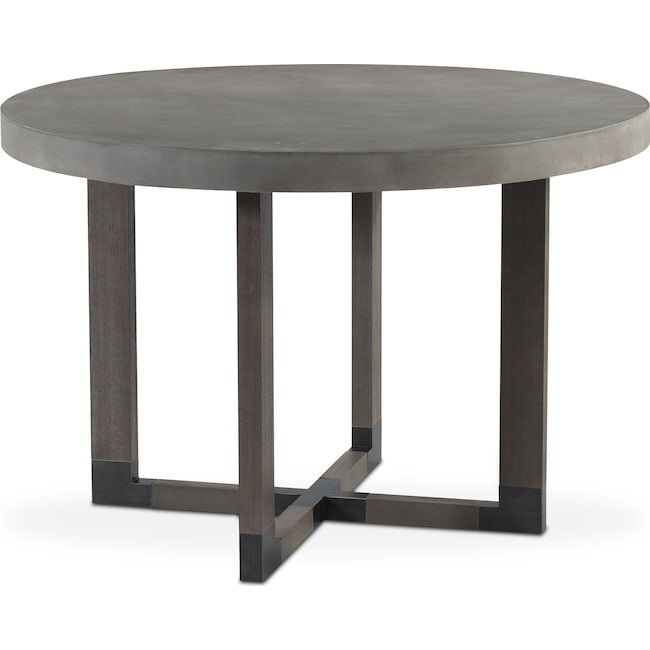 Concrete Dining Room Table: Malibu Round Counter-Height Concrete Top Table