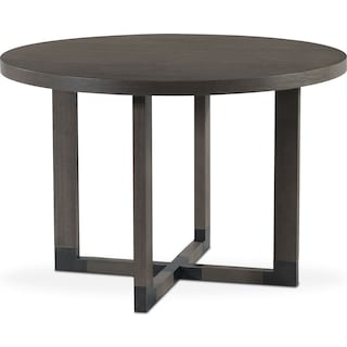 Malibu Round Counter-Height Wood Top Table - Gray