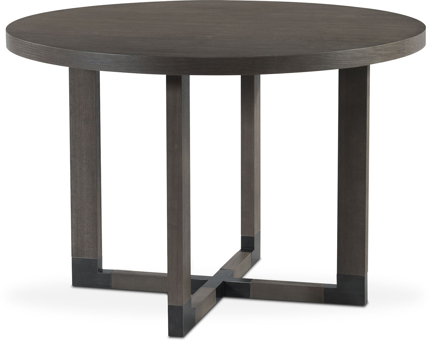 Malibu Round Counter Height Wood Top Table   Gray