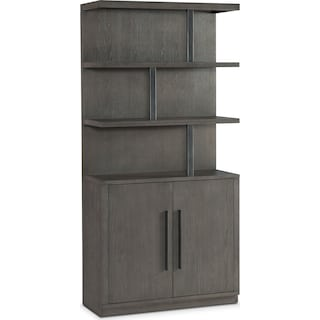 Malibu Open Display Cabinet - Gray