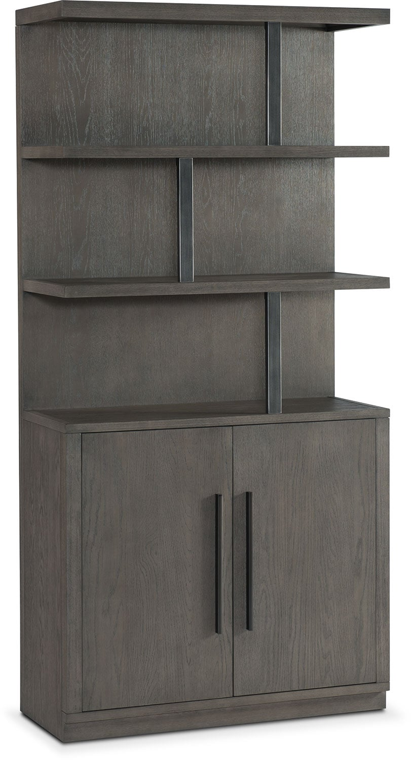 Malibu Open Display Cabinet   Gray
