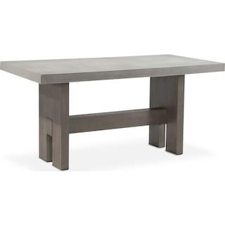 Malibu Rectangular Counter-Height Concrete Top Table - Gray