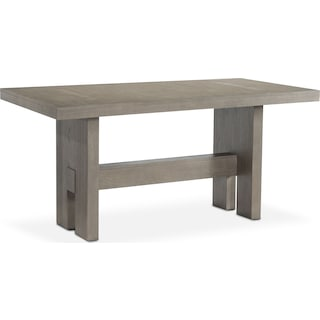 Malibu Rectangular Counter-Height Wood Top Table - Gray
