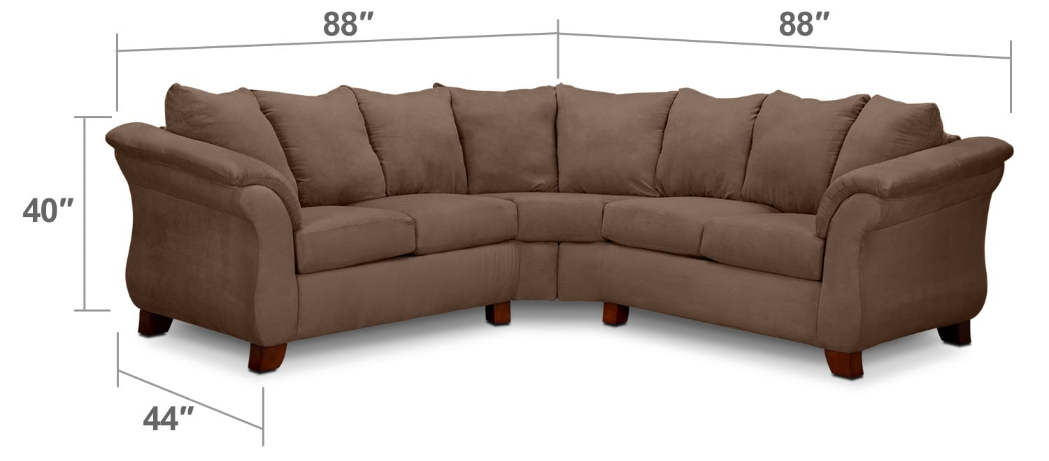 Living Room Furniture - Adrian 2-Piece Sectional - Taupe