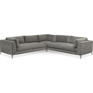 Aaron 3-Piece Sectional - Flannel