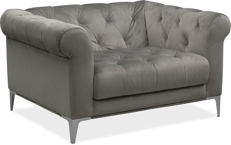 David Cuddler Chair - Flannel
