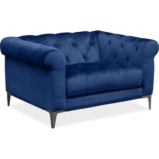 David Cuddler Chair - Indigo