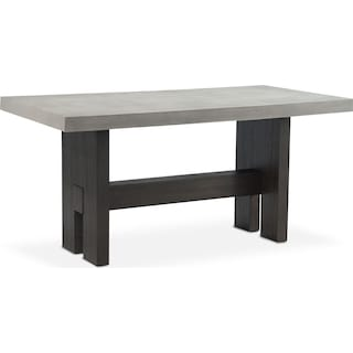 Malibu Rectangular Counter-Height Concrete Top Table - Umber