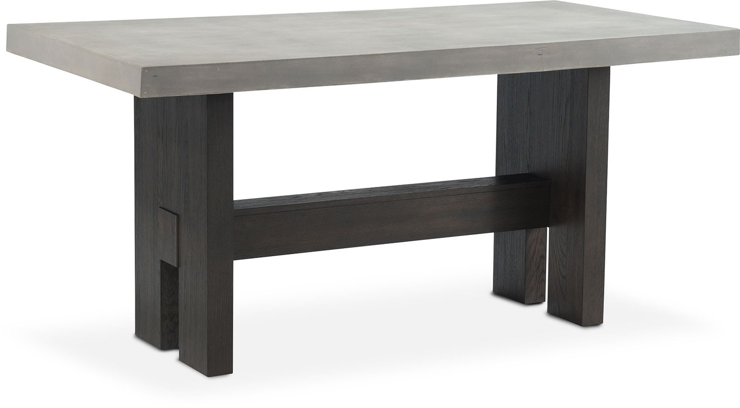 Malibu Rectangular Counter Height Concrete Top Table   Umber