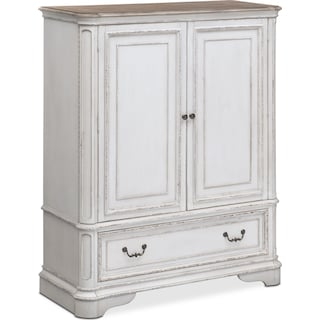 Marcelle Door Chest - Vintage White