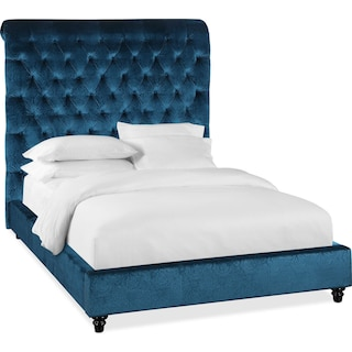 Diana Queen Upholstered Bed - Teal