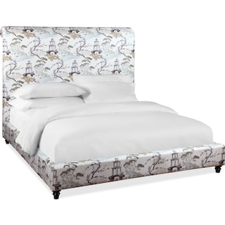 Diana King Upholstered Bed - Pearl