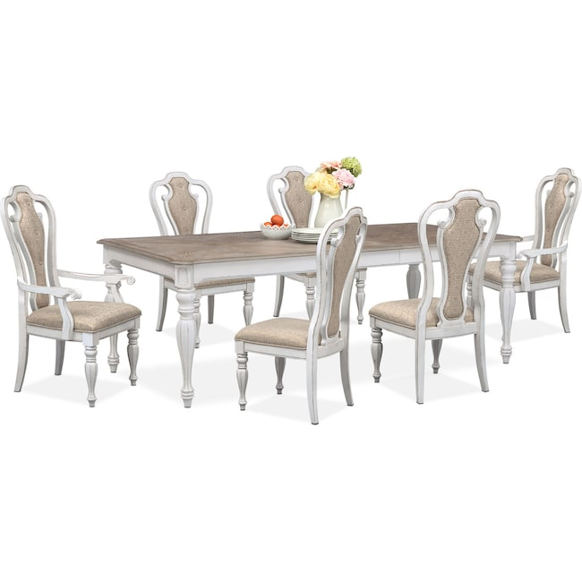 Marcelle Table 4 Side Chairs And 2 Arm Set