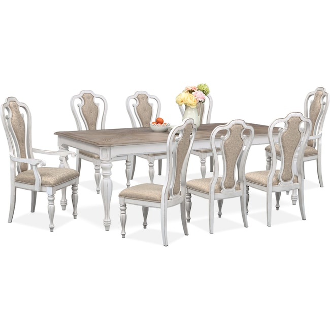 Marcelle Table 6 Side Chairs And 2 Arm Set