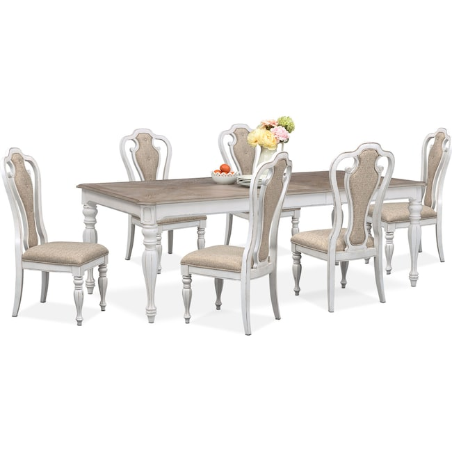 Marcelle Table And 6 Side Chairs