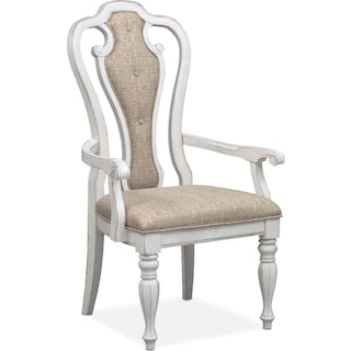 Marcelle Arm Chair - Vintage White