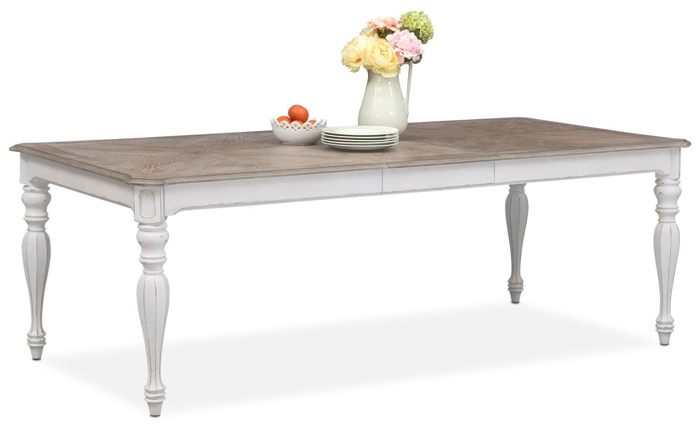 marcelle table - vintage white | value city furniture