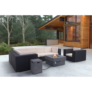 Wiley 5-Piece Outdoor Sectional - Espresso