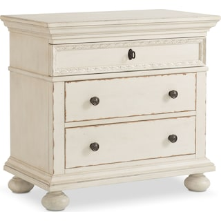Langham 3-Drawer Nightstand - White
