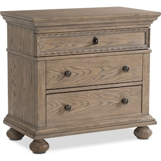 Langham 3-Drawer Nightstand - Natural