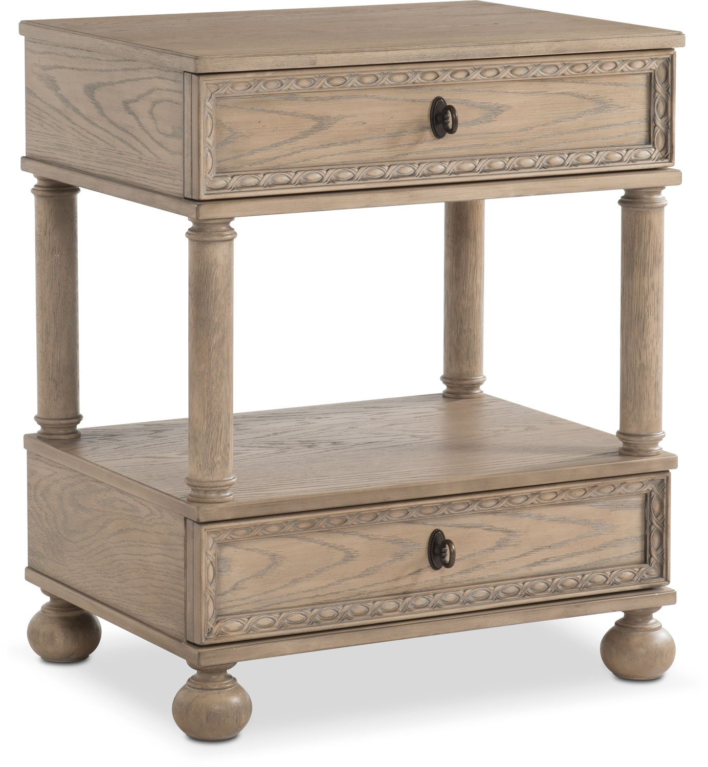 Bedroom Furniture - Langham 2-Drawer Nightstand