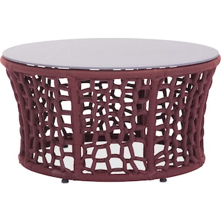 Presli Outdoor Cocktail Table - Cranberry and Gray