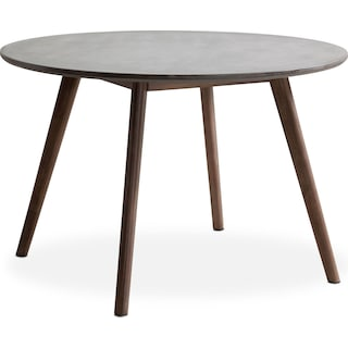 Santo Outdoor Round Dining Table - Cement and Natural