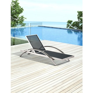 Montana Outdoor Chaise Lounge - Gray