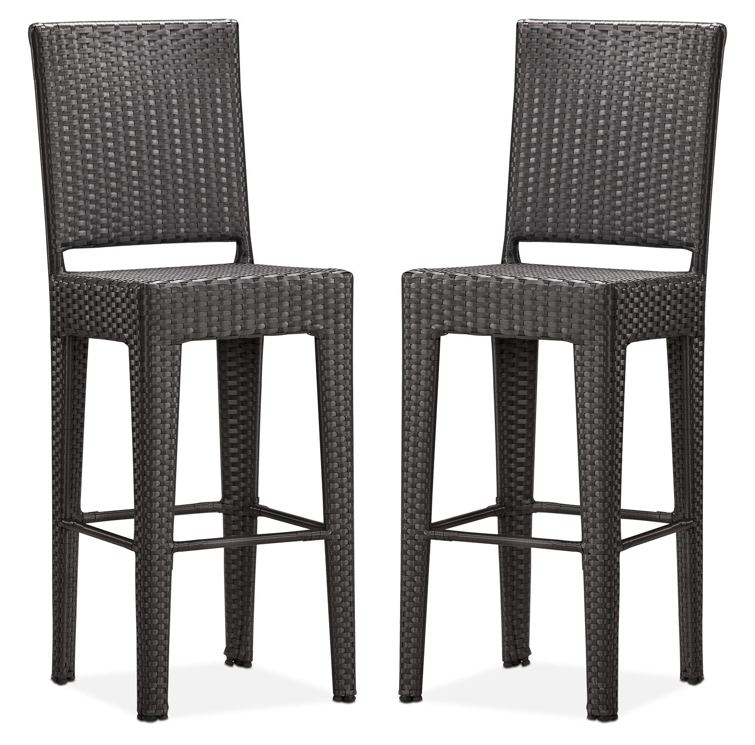 jaxton set of 2 outdoor barstools brown